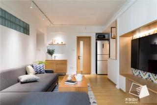 厦门振华大厦78㎡旧房翻新,日式、强收纳、双卫生间、借光、U型厨房,榨干每一寸空间!