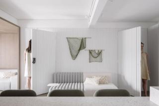 75㎡ 二室户,餐厨客厅空间一体化,开放又通透!
