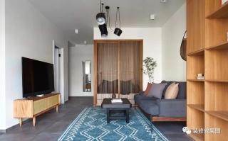 38㎡简约新中式小宅,温雅柔和的气质美居