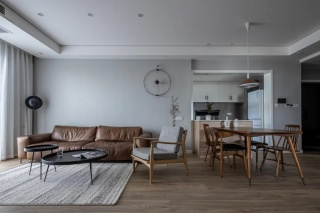 夫妻115㎡的家,LDK设计大气舒适,还自带50㎡小花园!