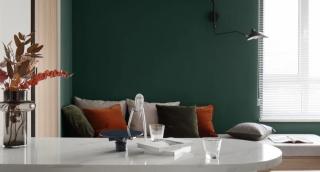 85㎡整容级改造,大胆撞色+开放式客餐厅,还拥有3㎡三式分离,实用又高级!