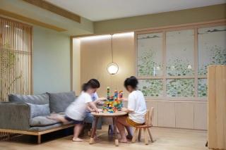 二娃家庭装修典范| 她家是福州105㎡拆迁安置房;改造后空间收纳足,还有咖啡角和独立小茶室