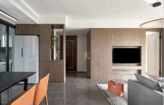 电视柜嵌入隐形门,天衣无缝!103㎡三房功能和实用兼顾