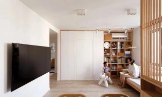 厦门学区房装修参考,散发着阳光味道的66㎡日式两居,多窗户型也能拥有超多收纳~