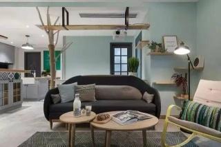 厦门旧房翻新 将客厅、餐厅和厨房全开放式设计,好一个宽敞、清爽、惬意的家