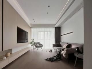 客厅改卧室、大体量收纳空间……爆改129m²极简空间,一切从实用出发!